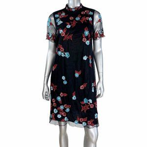 A Pea in the Pod Black Floral Dress M